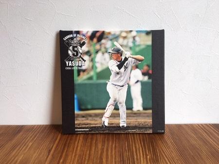安田選手の画像を商品化したものを飾った写真