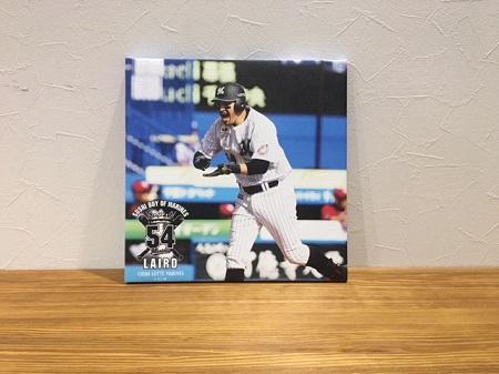 レアードがスシポーズしている画像を商品化したものを飾っている写真